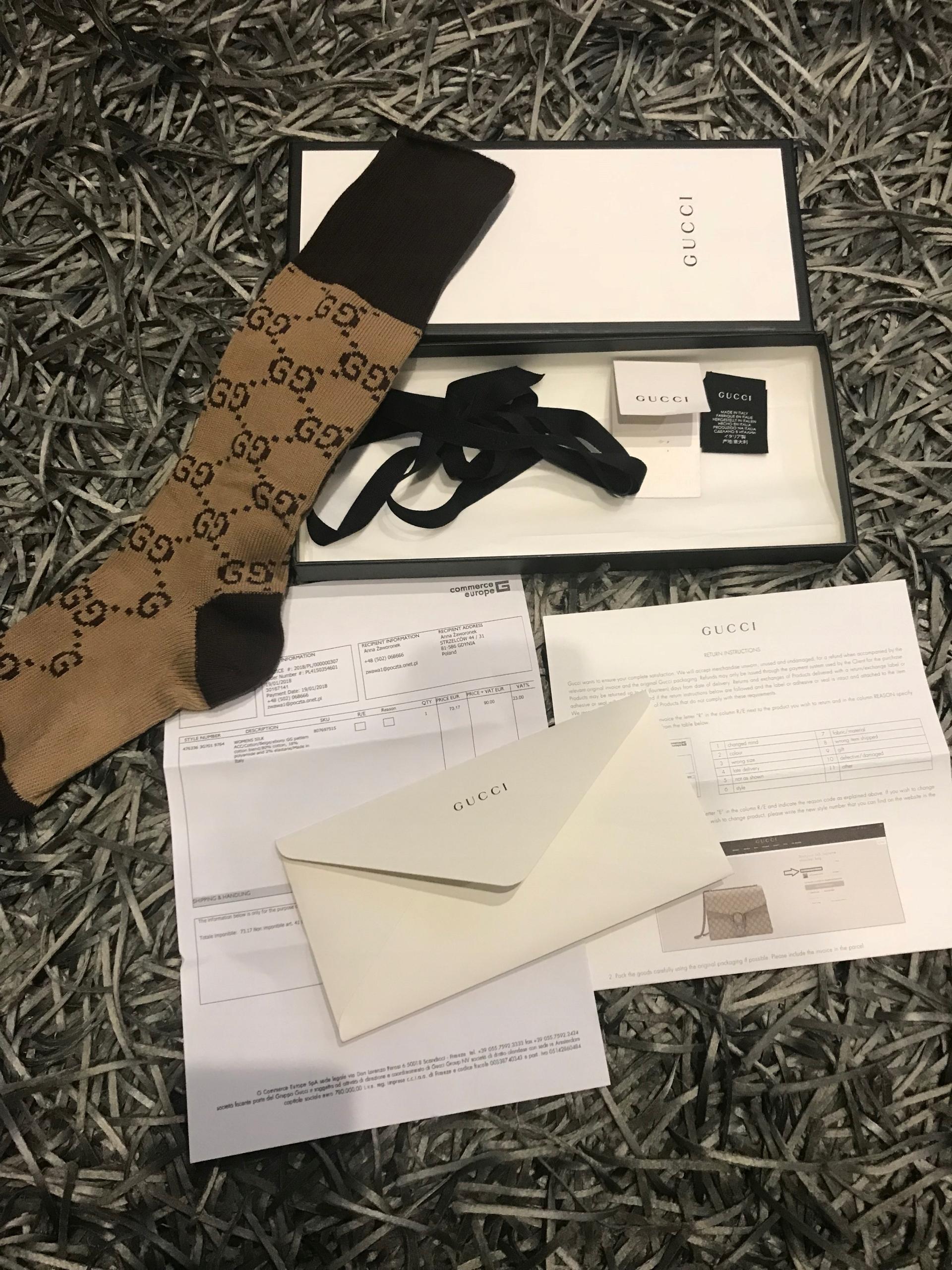 e355d003e20d3 Gucci skarpetki podkolanówki oryginał GG - 7781567171 - oficjalne ...