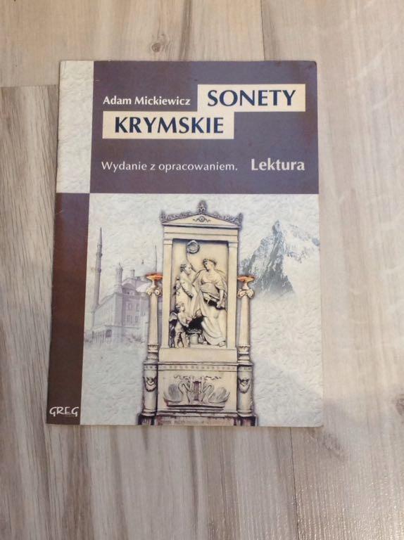 Sonety Krymskie Mickiewicz Lektura Z Opracowaniem