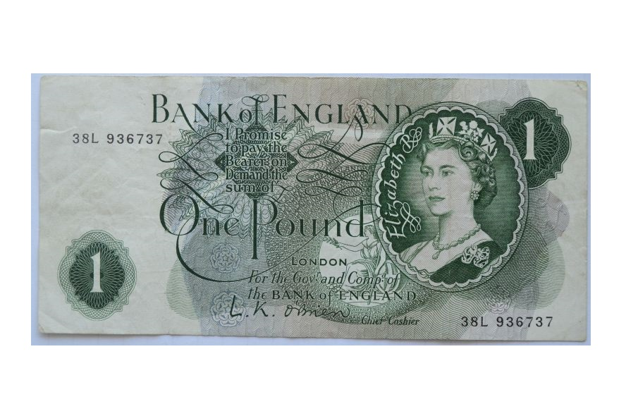 ONE POUND - BANK OF ENGLAND