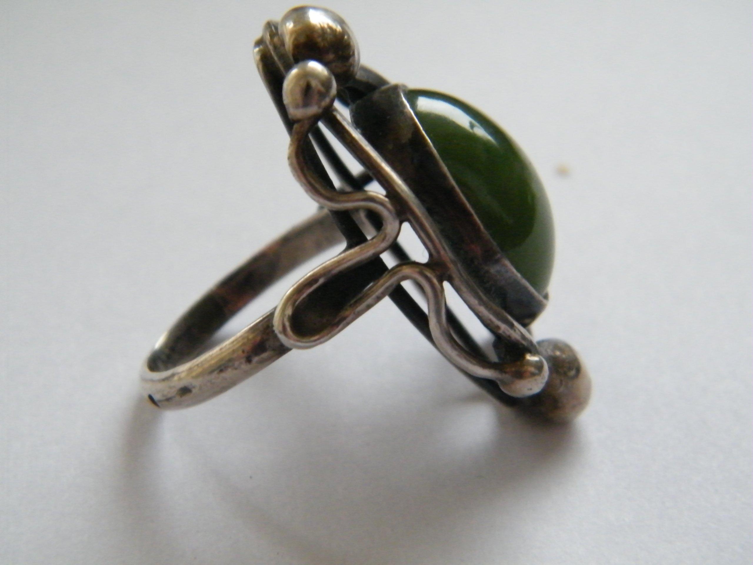 Dodatkowe ORNO Srebrny pierścionek z Jadeitem - 7298555992 - oficjalne RO32