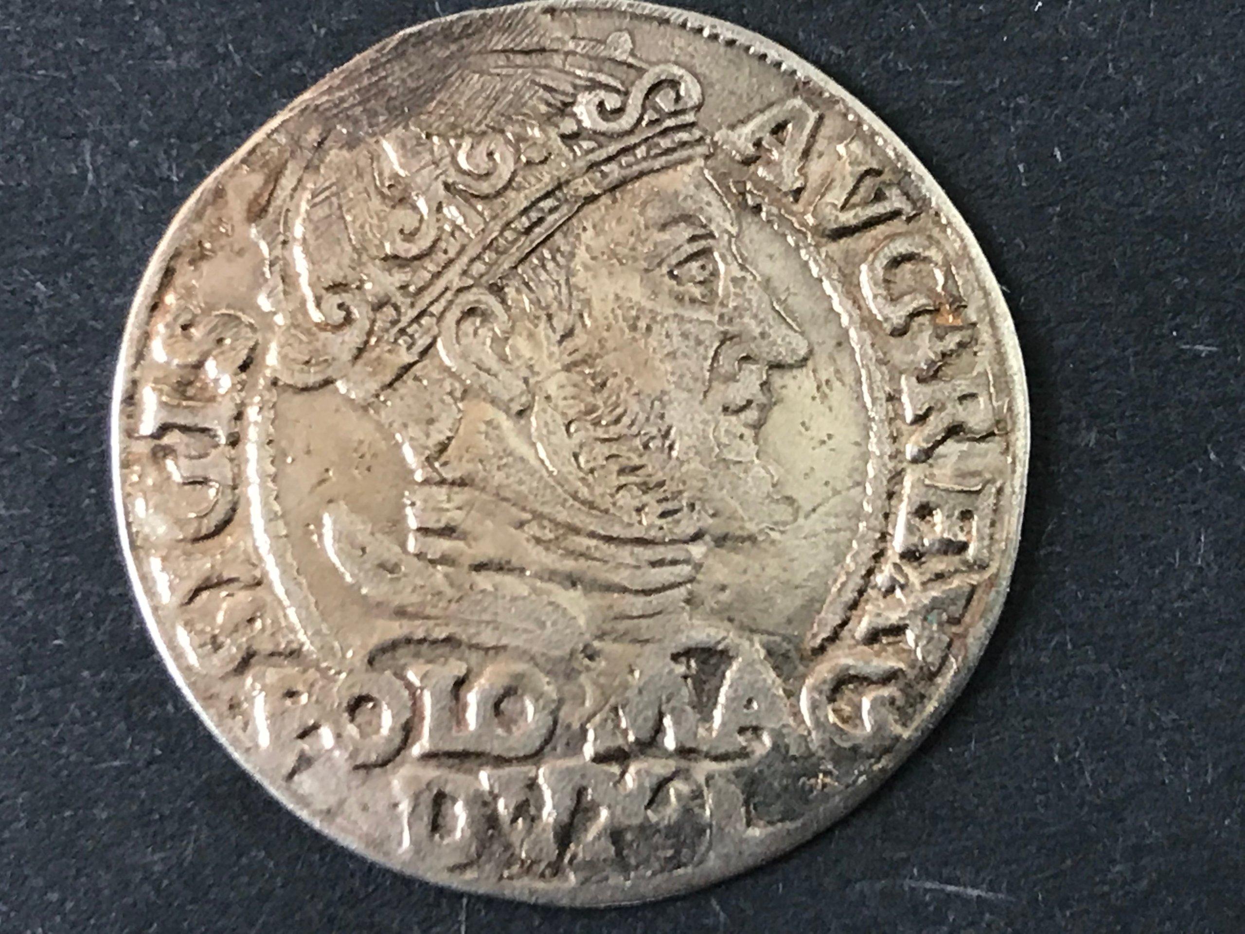 GROSZ LITEWSKI NA STOPĘ POLSKĄ, WILNO 1547, ST. 2