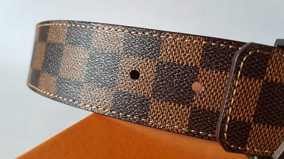 000855d862a41 Męski pasek LV Louis Vuitton rozmiar 95 Brązowy - 7747565497 ...