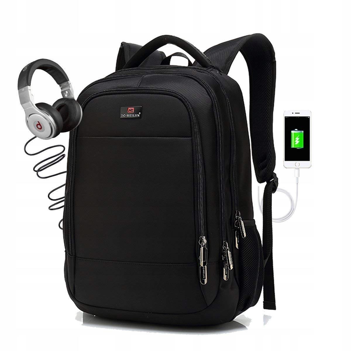 f771d4c05a397 WODOODPORNY Plecak na laptopa SPLINK 15.6 CAL USB - 7640041876 ...