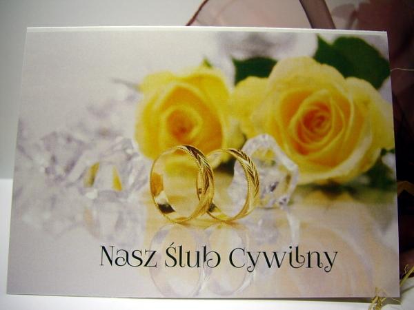 Eleganckie Zaproszenia Na ślub Cywilny 7094480845 Oficjalne