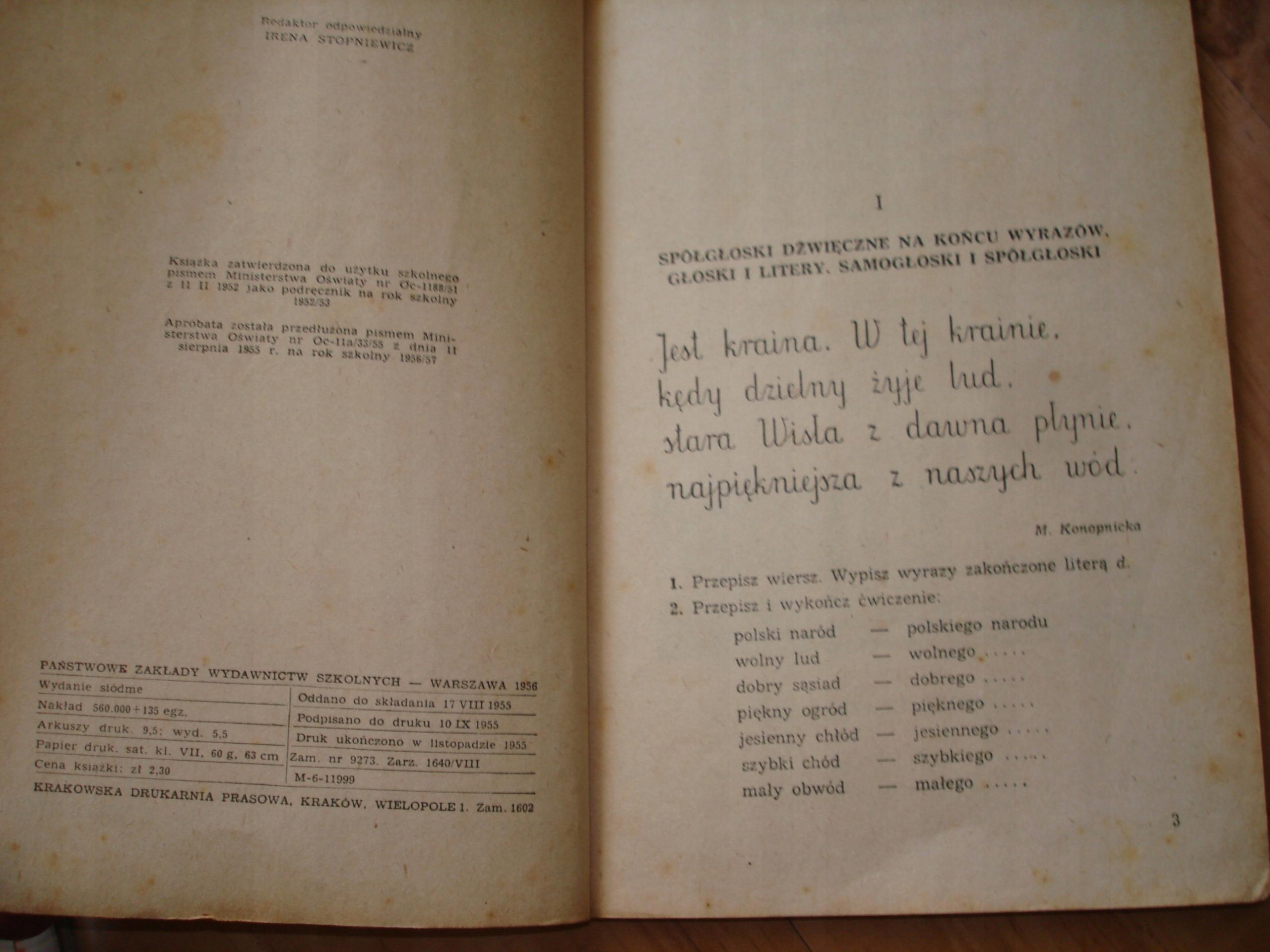Mowa Polska Klasa Iii 1956 Wieczorkiewicz 7551452815