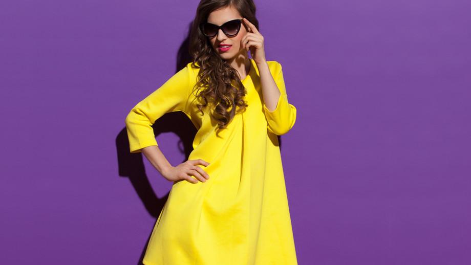 Wiosenne Sukienki O Linii A W Intensywnych Kolorach Allegro Pl