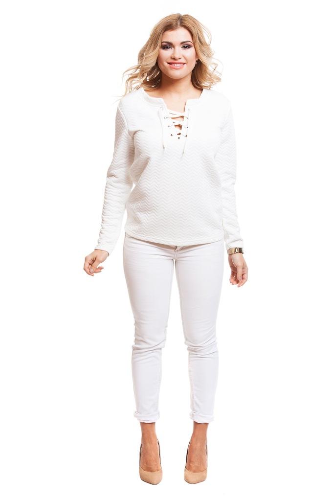 Bluza ONLY JDYMURILLO L/S LACE UP PULLOVER JRS 15127274 złamany biały L
