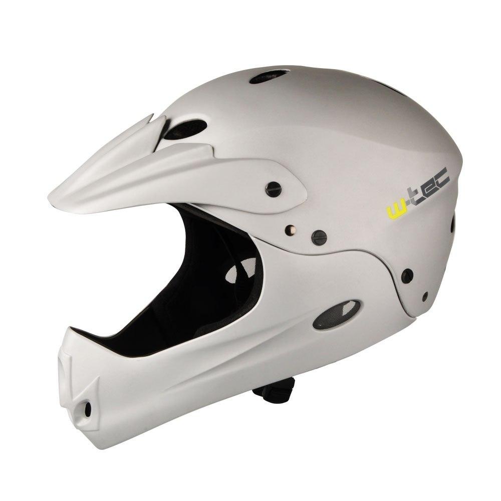 Kask downhillowy W-TEC Downhill - Kolor Srebrny, R