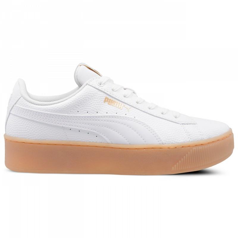Białe Ze skóry ekologicznej Buty Puma rozmiar 37
