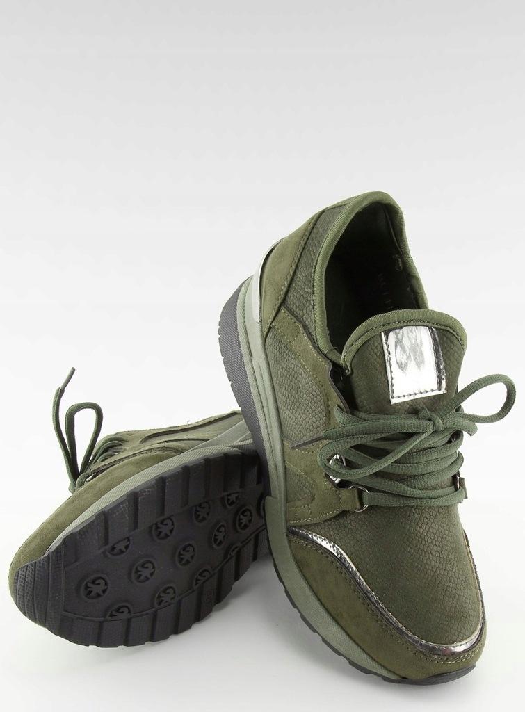 Buty sportowe damskie zielone buty damskie 7576733206