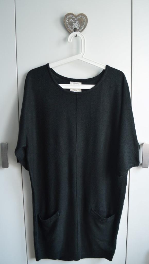 NEXT sweter tunika L/XL czarny minimalizm