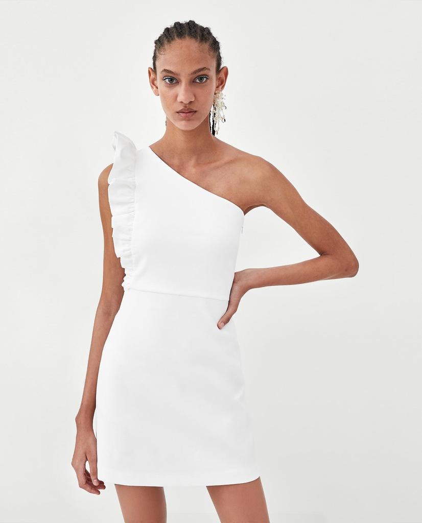 sukienki na jedno ramię zara