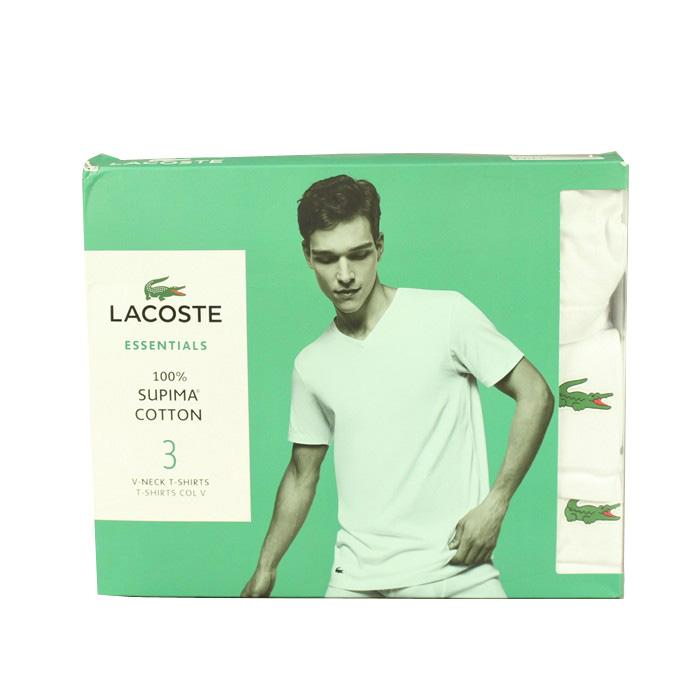 NOWE Podkoszulki x 3 białe Lacoste z USA! roz M