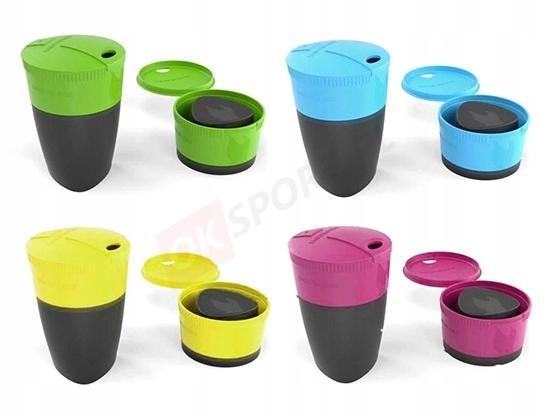 Zestaw turystycznych kubków składanych Pack up Cup Light My