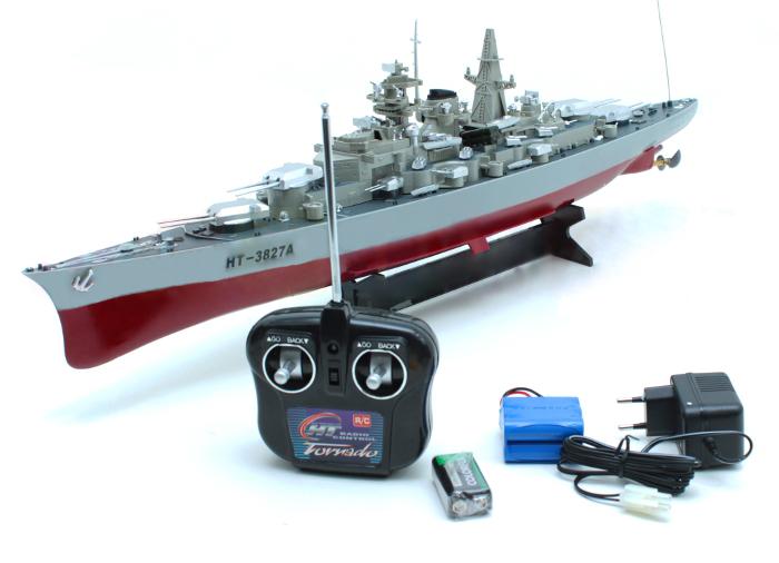 Okręt wojenny statek zdalnie sterowany dł.71 cm