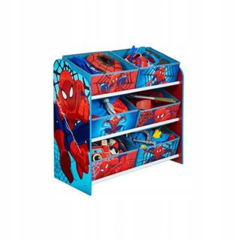 Półka z koszami na zabawki Spiderman