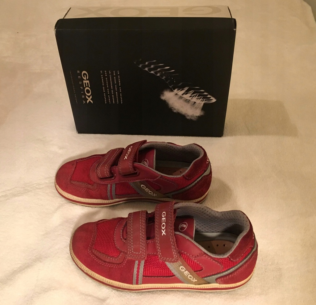 GEOX - buty sportowe - dziewczynka, chłopak, r. 33