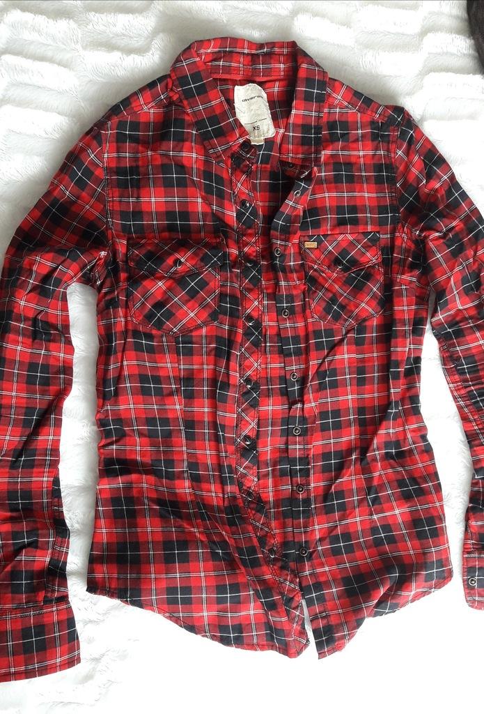 Koszula Damska w kratę czerwona Diverse rozm 34