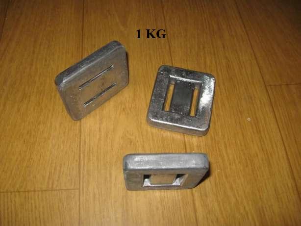 Balast nurkowy ołów - 0,5kg 1kg 1,6kg 2kg GRATIS