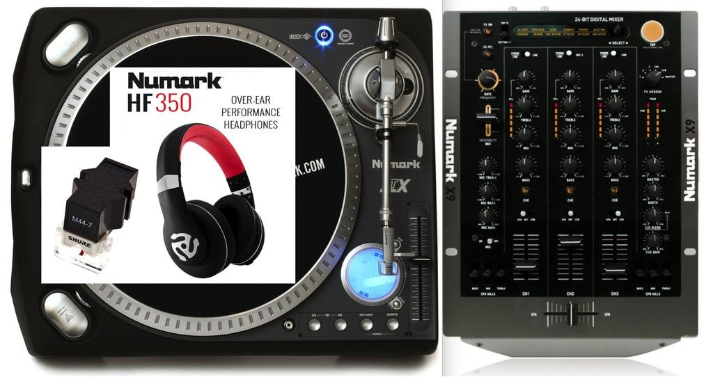 Gramofon Numark TTX USB + SHURE, Mixer, HF350, UDG