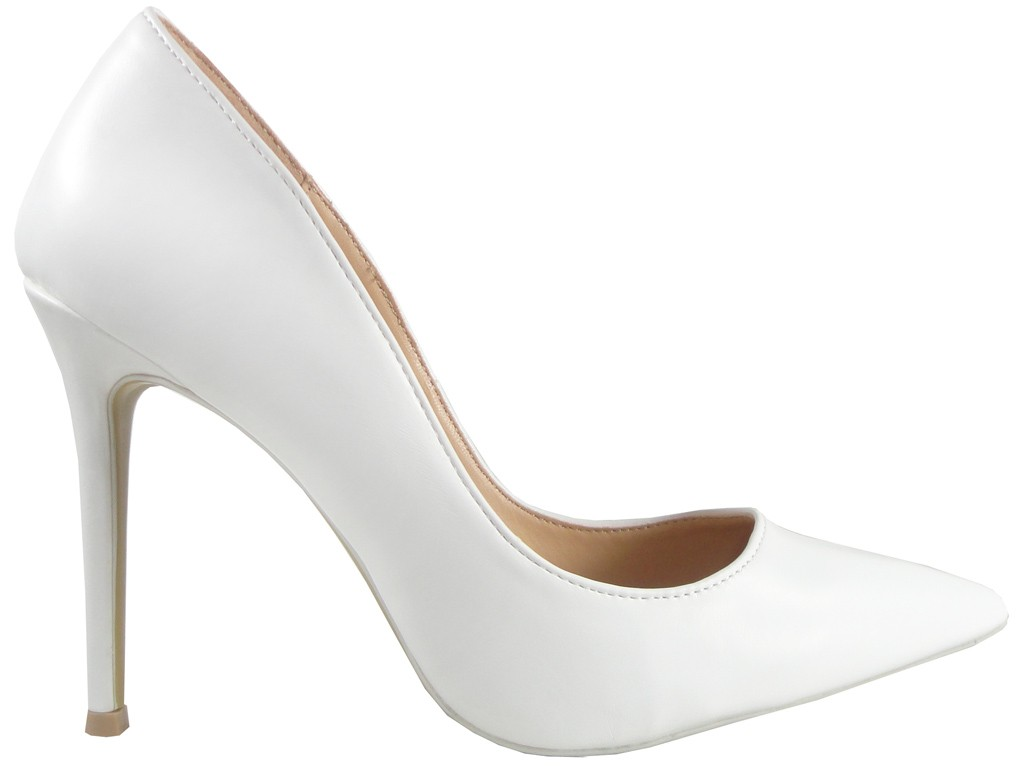 Białe Sandały Damskie BUTY ŚLUBNE VICES 36