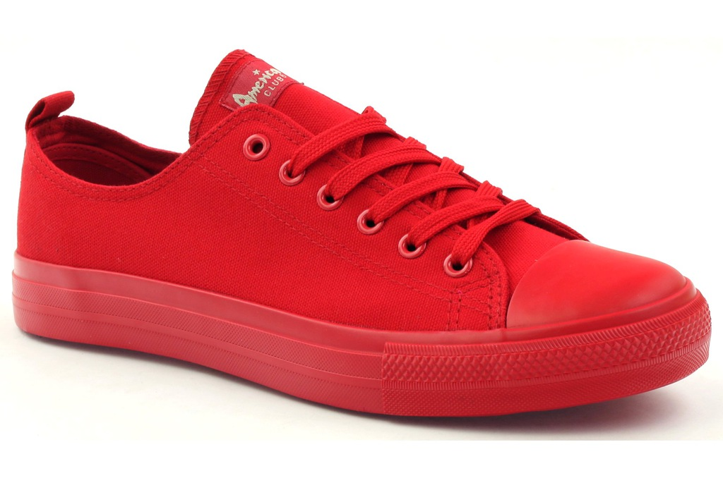 Czerwone Tekstylne Buty American Club r.38