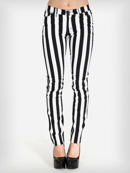 Czarno białe spodnie paski S 36 zara NOWE