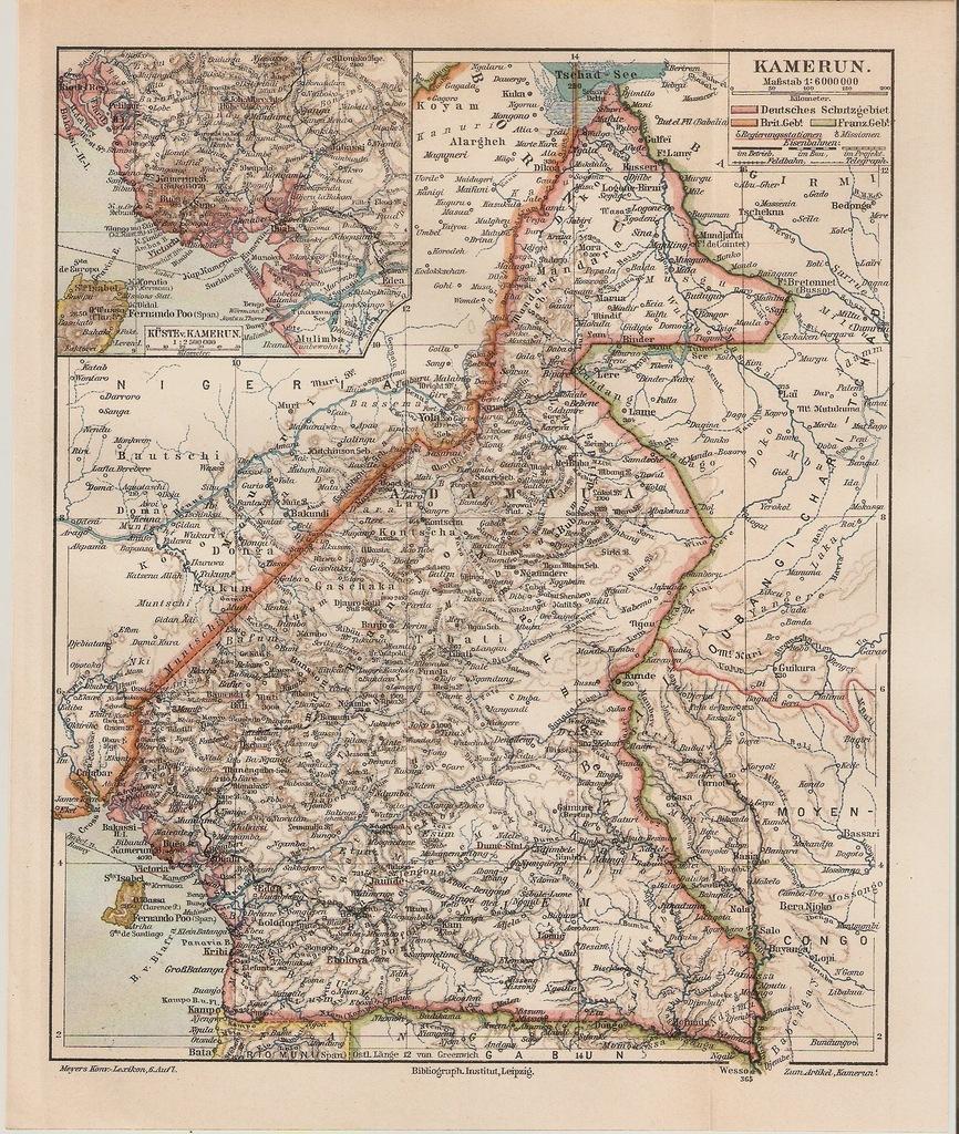 KAMERUN  1904  ROK
