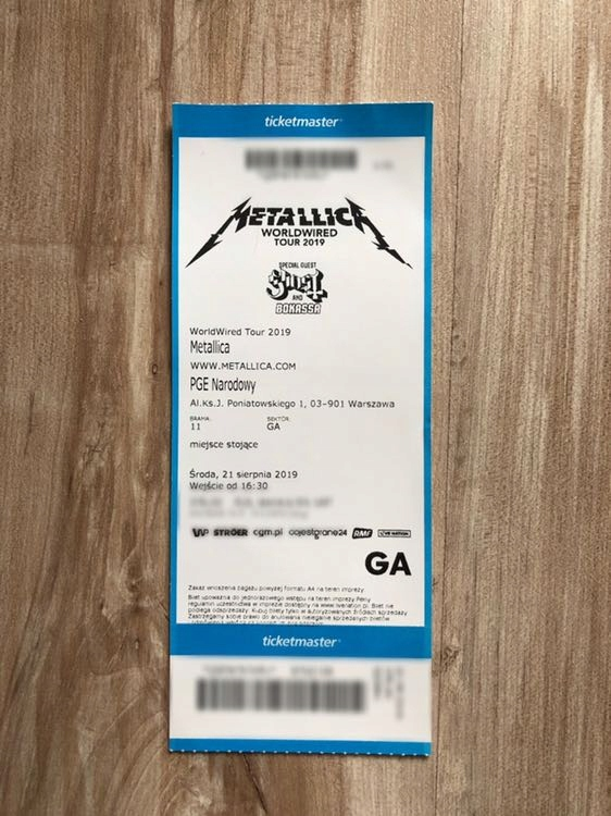 Metallica 1 Bilet Na Koncert 21 08 2019 Pge Wawa 7734637278 Oficjalne Archiwum Allegro