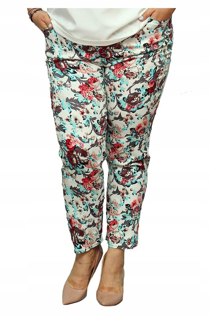 Spodnie LIDA letnie gumka ecru w piwonie 52