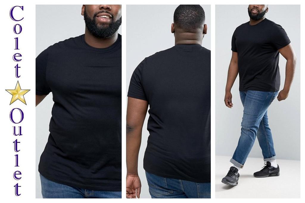 mr32 T-shirt męski czarny bawełna XXL wyprzedaż