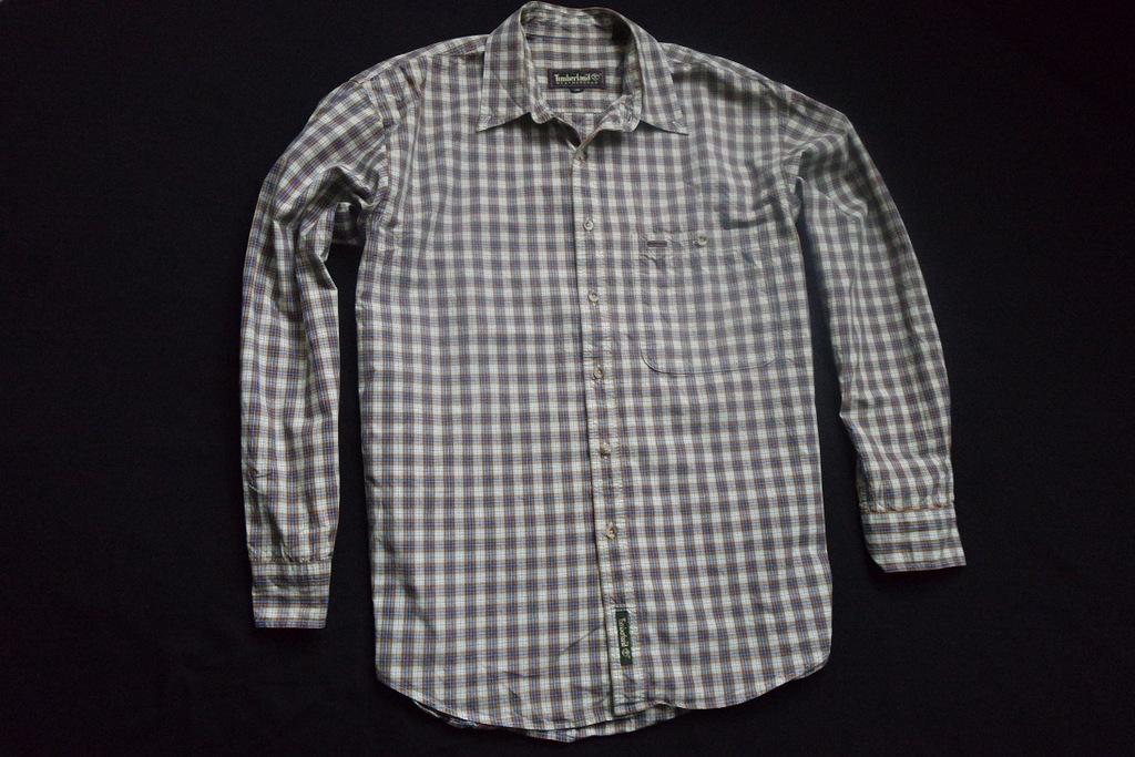 TIMBERLAND koszula kratka kolorowa logowana_____XL
