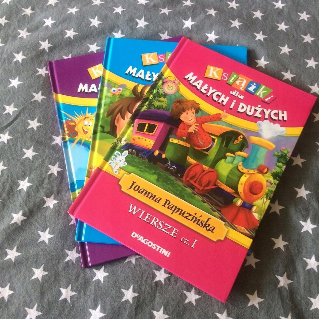 3 Szt Książki Wiersze Dla Dzieci Popularne Znane