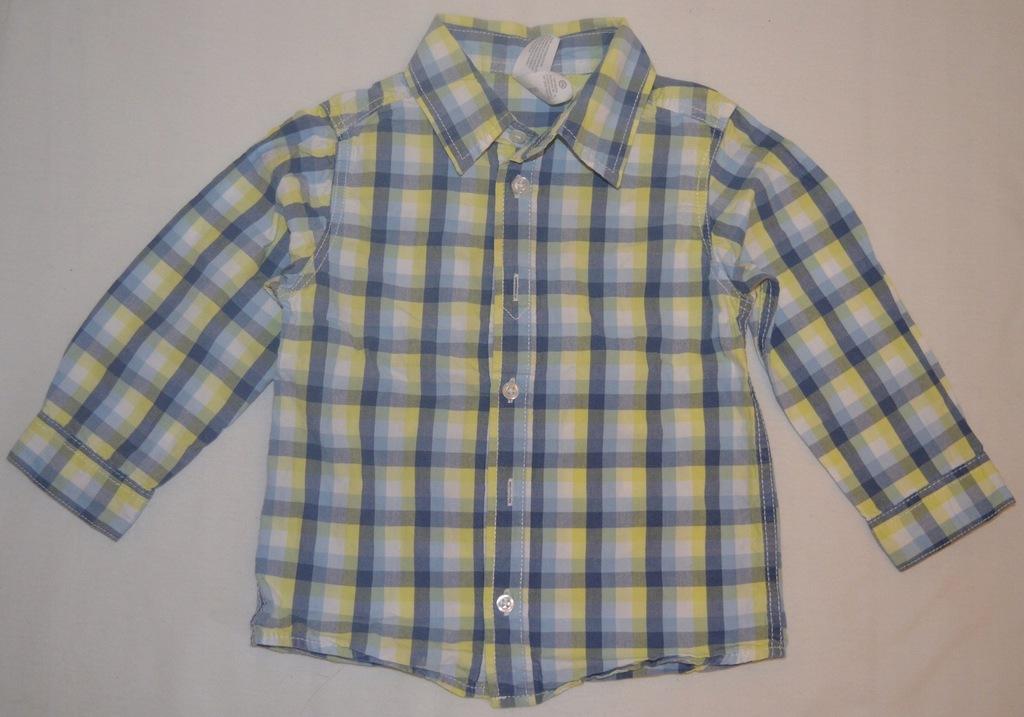 Koszula w kratkę dla chłopca C&A roz 86
