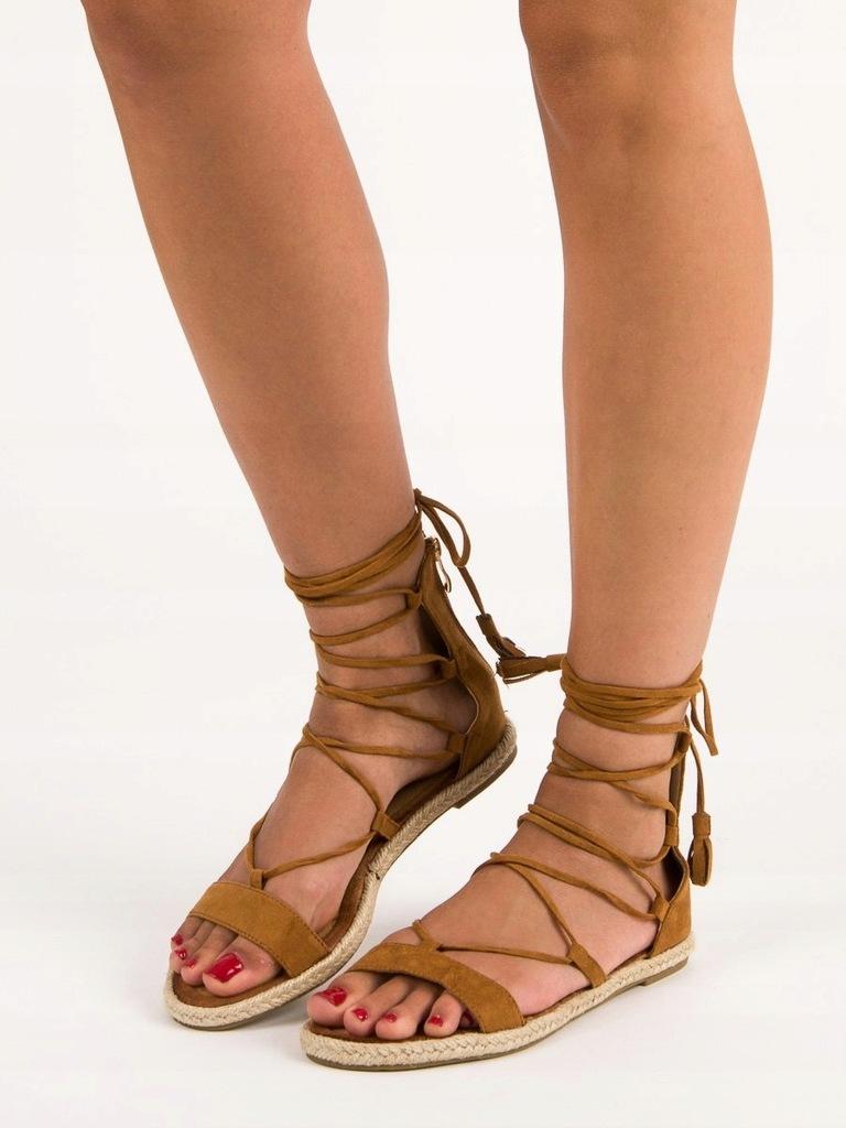 Sandały rzymianki długie Sandały damskie Kolekcja wiosna