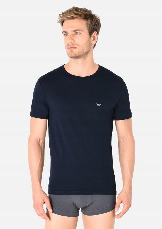 T-Shirt Koszulka Bluzka Męska Granatowa L