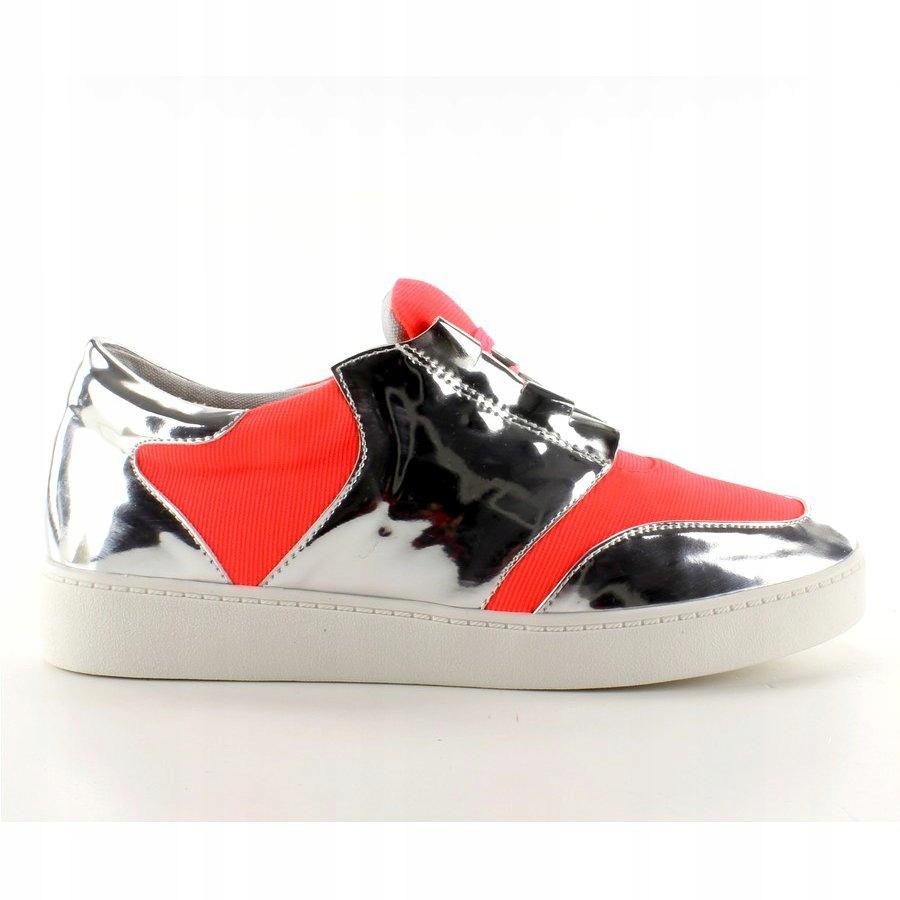 Buty sportowe neonowo lustrzane Orange r.37