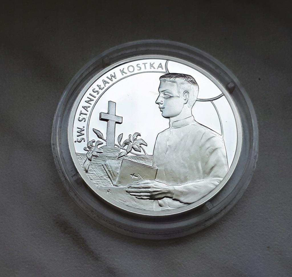 H49) Medal srebro Ag 999 - Święty Stanisław Kostka