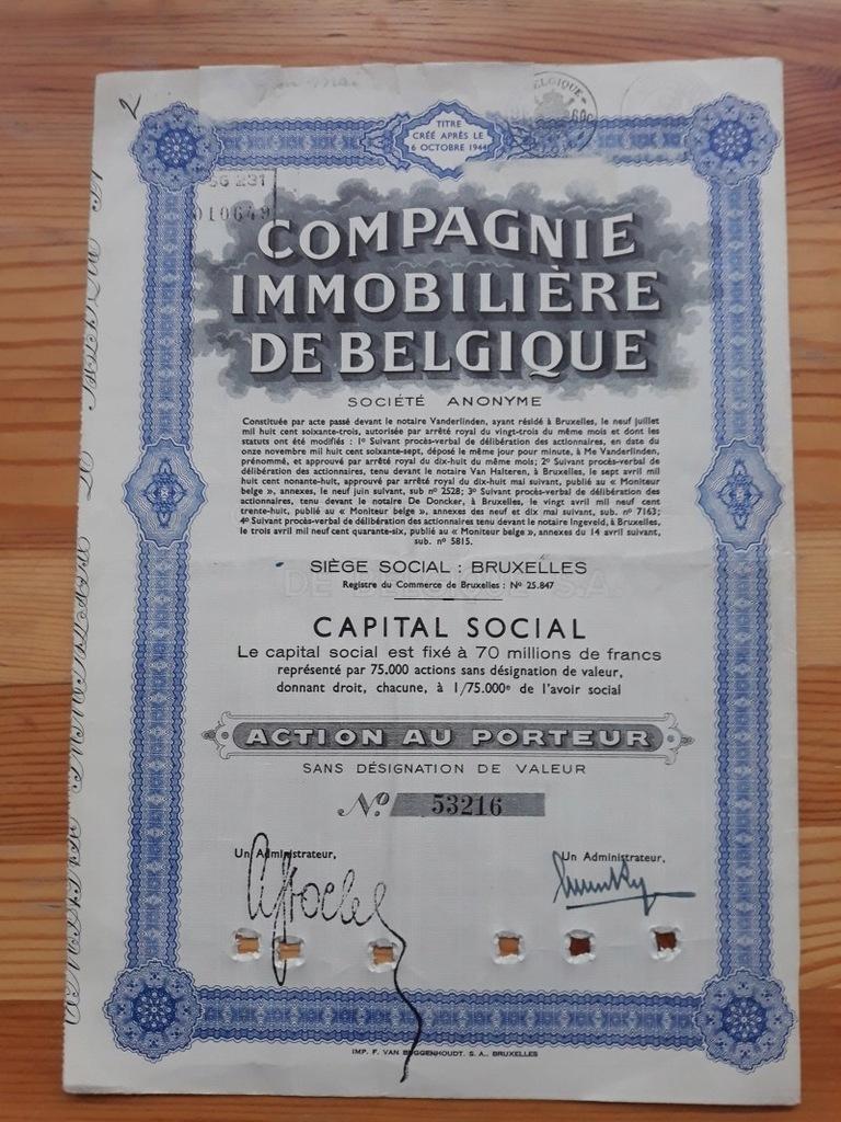 COMPAGNIE IMMOBILIARE DE BELGIQUE