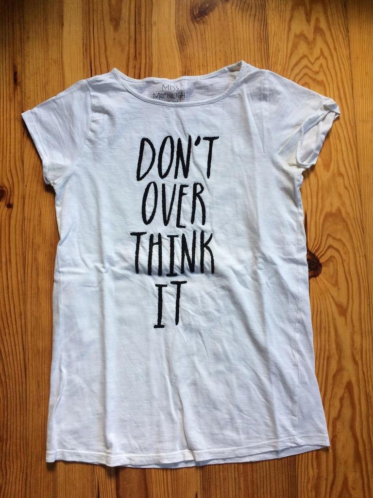 T shirt biały z nadrukiem RESERVED rozmiar 164cm
