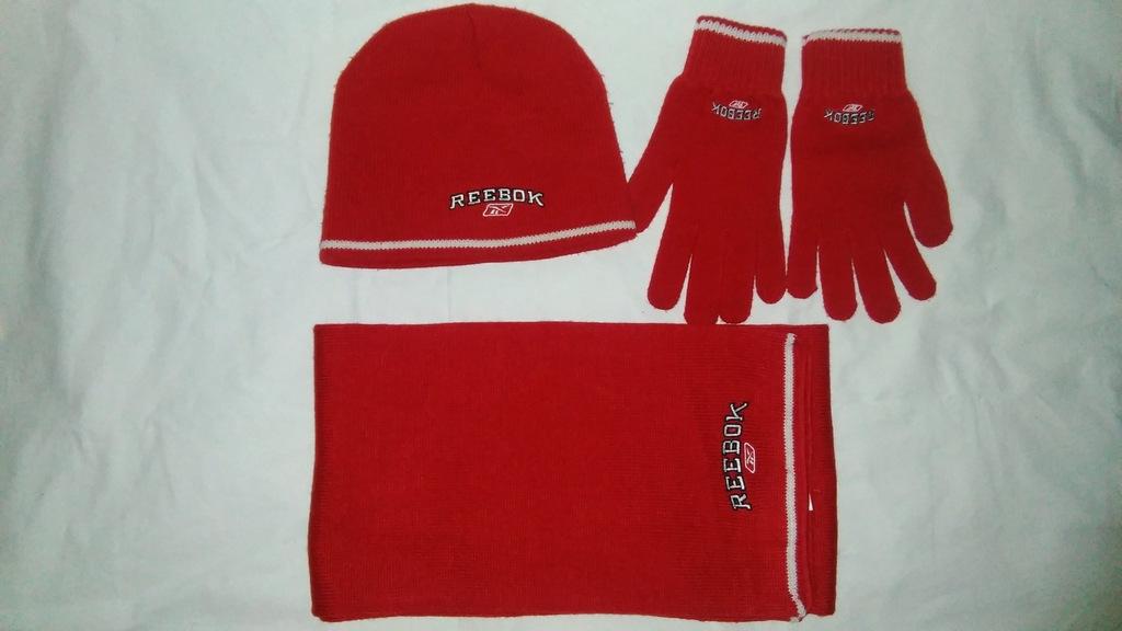 Komplet czapka szalik rękawiczki REEBOK