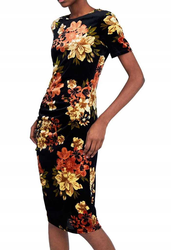 zara akcsamitna sukienka floral