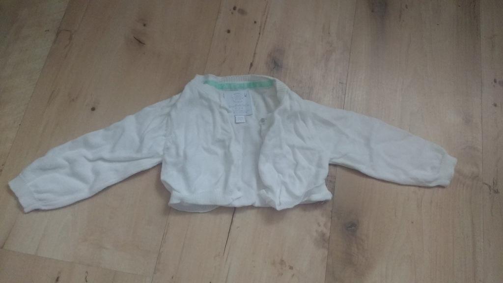 Bolerko niemowlęce, sweterek, rozmiar 62, białe