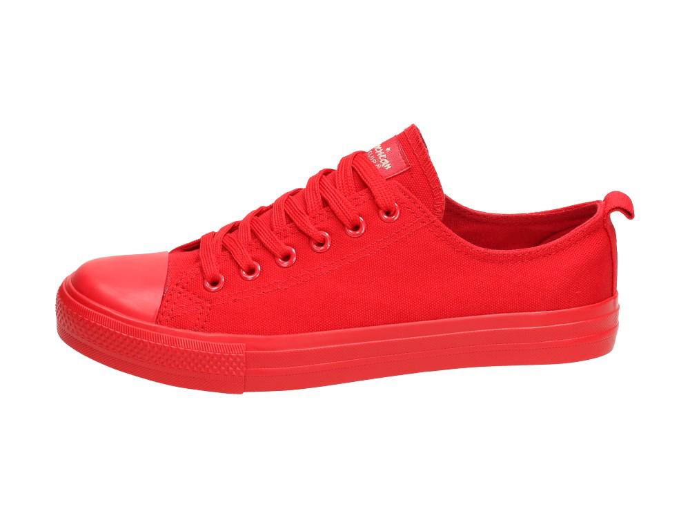 Czerwone trampki damskie AMERICAN CLUB DSLNA r36
