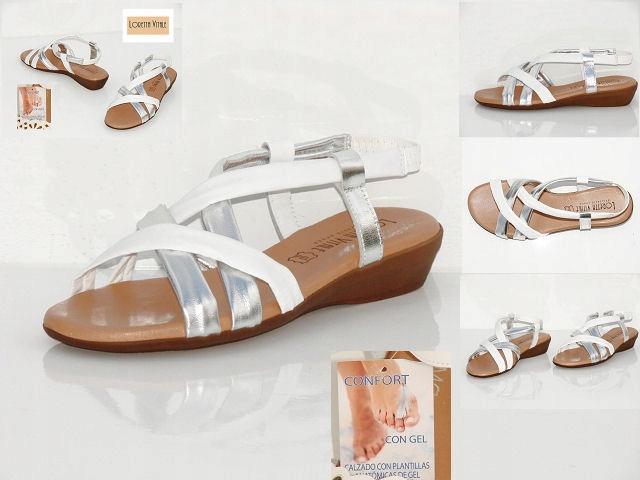 Sandały damskie skóra włoskie LORETTA VITALE rozm. 36,39,41