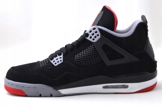 Nike Air Jordan Retro 4 Bred Rozm 43 Wysyłka w 24H