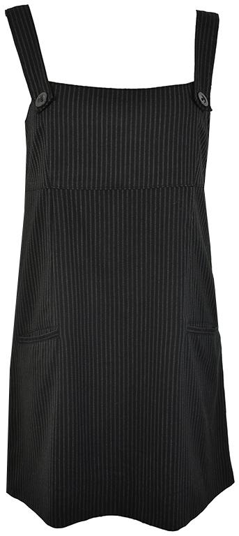 tT7480 czarna sukienka na grubych ramiączkach 42