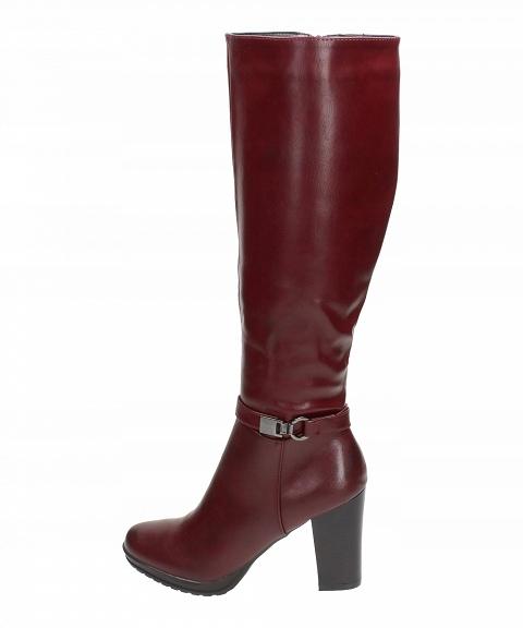 Bordowe kozaki damskie, buty SABATINA DM18 32 r40