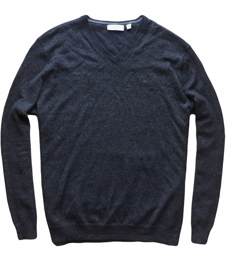 Calvin Klein XL/XXL 100% Merino wełna melanż