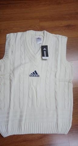 Adidas pullover bezrękawnik kamizelka cricket L